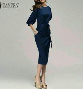 Классическое Новое платье с поясом