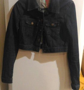 Куртка синяя джинсовая короткая