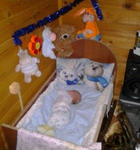 Самодельная кроватка для новорожденного