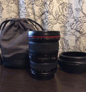 Широкоугольный объектив Canon EF 17-40mm f/4L USM