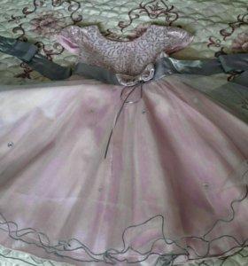 Платье на девочку 3-6 лет