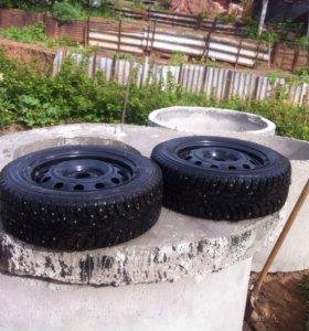 Комплект зимних колес  на Рио, Салярис