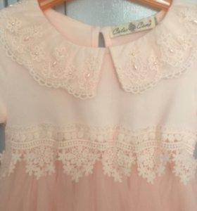 Платье с шитьем и бисером