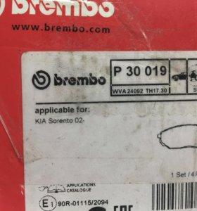 Колодки brembo Kia Sorento.