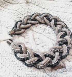 Колье-коса из бисера