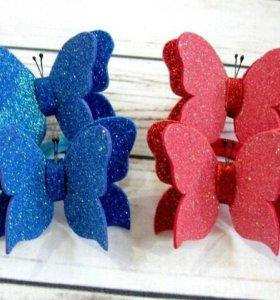 Резинки Бабочки ручной работы