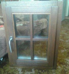 Окно для бани, новое, дуб