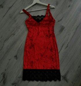 Платье бархат