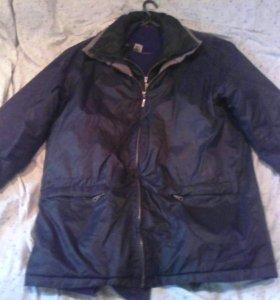 куртка осенняя с двумя молниями 54-170