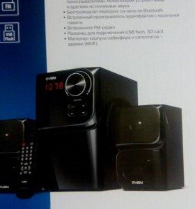 Мультимедийная акустическая система 2.1с Bluetooth