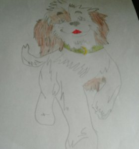 Рисунок собачка