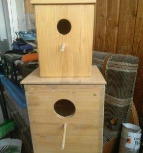 Гнездо для попугаев.
