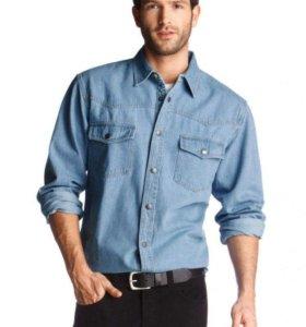 Джинсовая рубашка XL