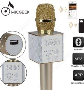 Караоке микрофон с колонкой Micgeek Q9 новый