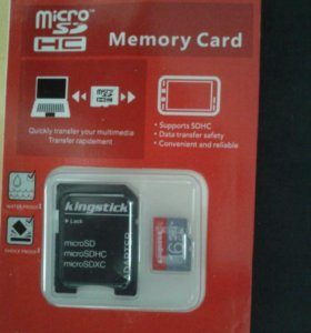 Карта памяти Kingstick микро SD 16гб, class10