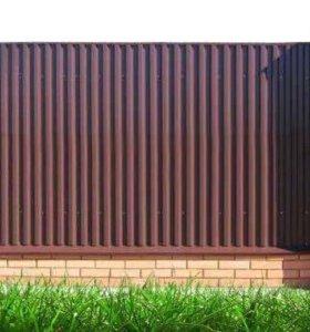 Забор, калитка, ворота установка