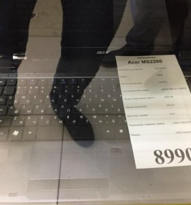 Ноутбук acer ms2286