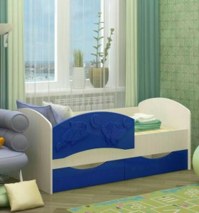 Кровать детская Мдф 1.4м
