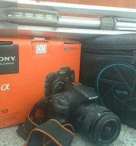 Sony alpha 58, флешка 16 Гб, сумка