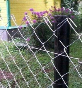 Сетка рабица под забор на дачу