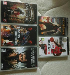 Продаю 5 дисков на PSP