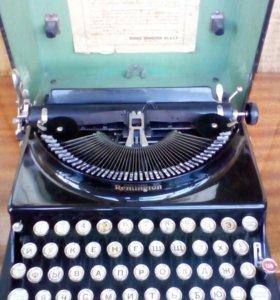 """Антикварная пишущая машинка Remington""""Weltdienst"""""""