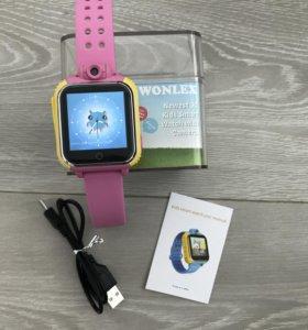 Детские умные часы с камерой GW1000 розовые