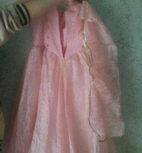 Платье выпускное бальное подойдет как свадебное