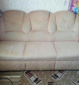 Диван и кресло 2 подушки в подарок