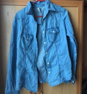Рубашка джинсовая женская. Размер М