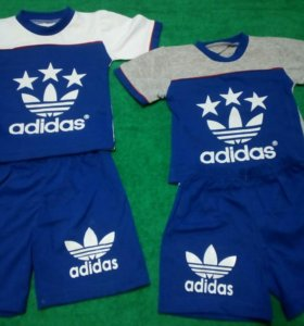 НОВЫЙ костюм новый adidas (футболка + шорты)