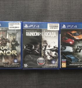 Продам игры PS4: for honor, осада+uncharted(1,2,3)