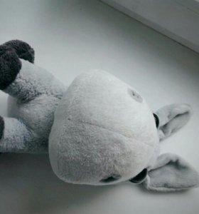 Игрушка мягкая ослик(Серый).