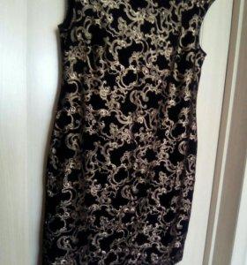 Платье чёрно-золотое