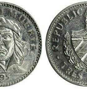 Монета 3 песо, с Че Гевара