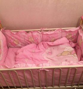 Срочно! Кроватка детская с матрацем