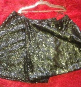 Фирменые новые юбки пайетка