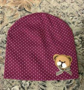 НОВАЯ детская шапочка от 0-1 года