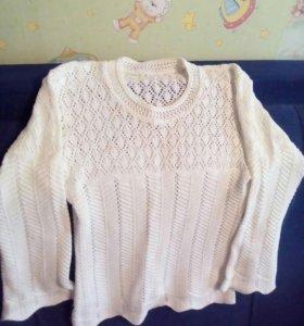 Летняя вязаная блузка
