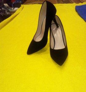 Туфли, замша, новые.