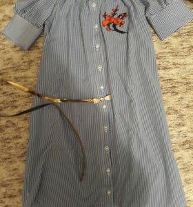 Платье рубашка новое