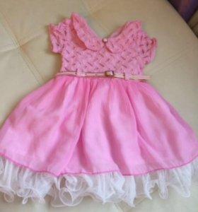 Платье малышке новое, размер до года