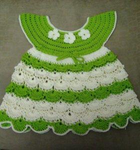 Вязаные детские платья