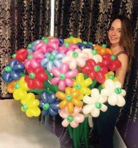 Цветы, букеты из шаров
