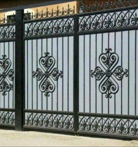 Кованые ворота.
