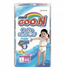 Японские трусики подгузники Goon размер L(9-14 кг)