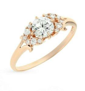 Золотое кольцо с фианитами!