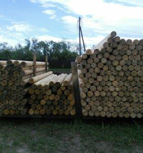 Столбики деревянные, заборные, для отделки