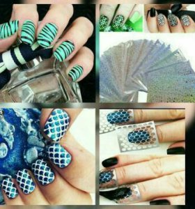Виниловые трафареты для дизайна ногтей