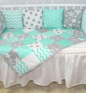 Акция!Продам подушки бортики для детской кроватки!